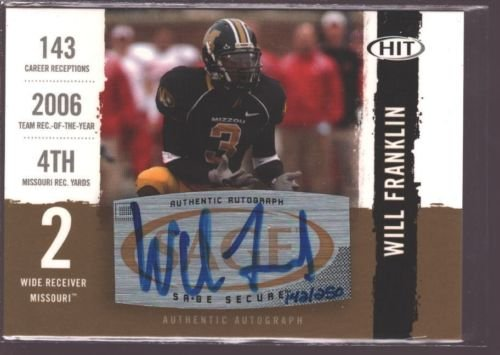 WILL FRANKLIN 2008 SAGE GOLD ROOKIE AUTOGRAPH AUTO RC MINT SP MISSOURI /250 $20
