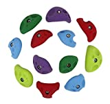 Atomik Climbing Holds 12 Large Divot Jugs Pack - Great for Beginners - Advanced Climbers - Bright Tones