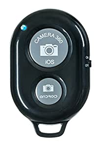 UFCIT Bluetooth Wireless Remote Control Camera Shutter Release Self Timer for IOS Android Smartphones (Black Remote)