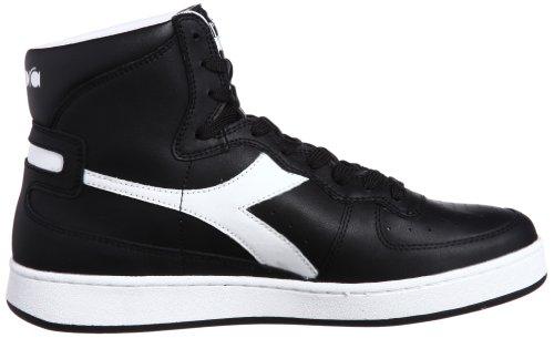 DIADORA Herren Hi Top Sneaker Schuhe MI Basket II Schwarz Weiß 158600 0641