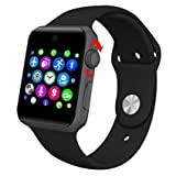 sampi Apple iPhone 7 Plus 128GB Compatible Bluetooth SmartWatch with Camera SIM Card Slot and Pedometer Smart Health, Sleep Monitoring, Better Display, Loud Speaker, Microphone, Touch Screen, Multi-Language Watch for Android and IOS Smartphone Best Selling High Quality By sampi