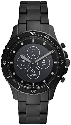 Fossil Men's FB-01 Dive-Inspired Hybrid Smartwatch HR with Always-On Readout Display, Heart Rate, Activity Tracking, Smartphone Notifications, Message Previews
