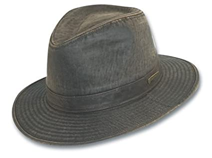 Dorfman Pacific mens Indiana Jones Weathered Cotton Hat IJ21