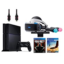 PlayStation VR Start Bundle 5 Items:VR Headset,Move Controller,PlayStation Camera Motion Sensor,PlayStaion4 Call of Duty Black Ops III,VR Game Disc Eagle Flight(US Version, Imported)
