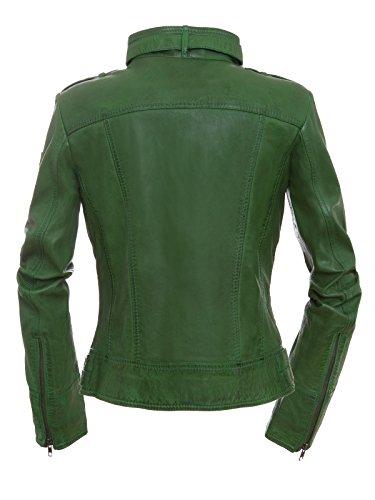 nbsp;xxl Valéry nbsp;biker Mujer Xs En nbsp;– Magnifica Verde De Piel Chaqueta nbsp;– Pw1UwH