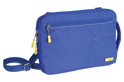 STM Blazer Padded Sleeve with Removable Carry Strap for Laptop (Cables Blue Stm)