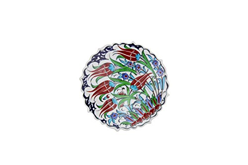 Handmade Ceramic Plates Turkish Handmade Serving, Wall Hanging, Exquisite Colors Decorative 7 inch to 12 inches Diameter decorative art mother day gifts (7 inch, Cappadocia1)