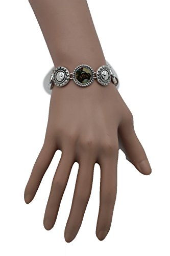 TFJ Women Fashion Western Rodeo Jewelry Silver Metal Bracelet Horses Texas Lone Star Style - Matching Horse And Rider Costumes