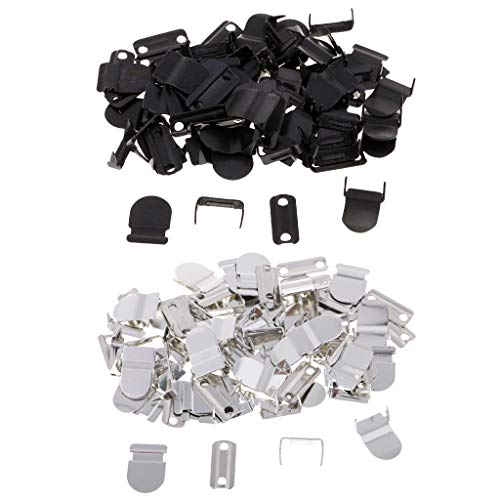 (Prettyia 40 Sets No-Sew Hook & Eye Closure Fastener for Trousers Skirt Suits Decoration)