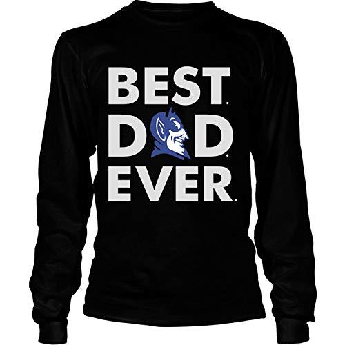 Duke Best Dad Ever T Shirt, Duke T Shirt - Long Sleeve Tees (XL, Black)