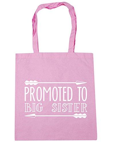 HippoWarehouse Promoted zu groß Schwester Einkaufstasche Fitnessstudio Strandtasche 42cm x38cm, 10 liter - Klassisch Rosa, One size