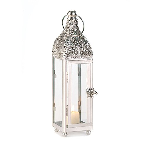 Glass Carved Doors (Gallery of Light Lantern Candle White, Outdoor Antique Decor, Small Ornate Candle Lantern Holder)