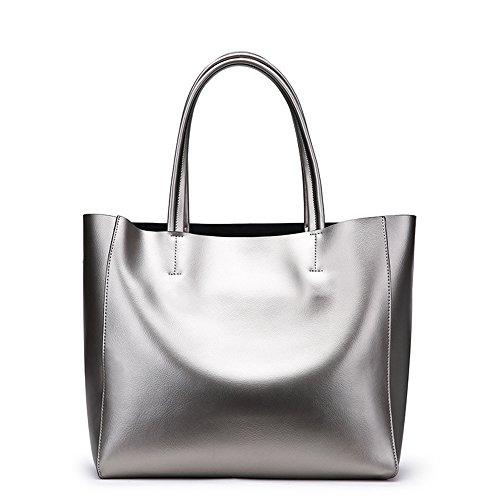 31cm Taille À Et Tote Argent Simple Main Grande Sac Bag Shopping 31 Polyvalent Noir couleur Gris Bagbagjj Capacité Pour Casual Bandoulière Femme Ladies Sacs 15 5wqBHISWSO