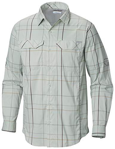 Columbia Men's Silver Ridge Lite Plaid Long Sleeve Shirt, Cool Green Open Pane Plaid,Medium