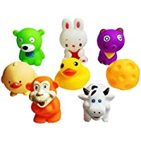 Jaynil® Soft and Attractive Bath Chu Chu Sound Toys for Kids - Set of 8