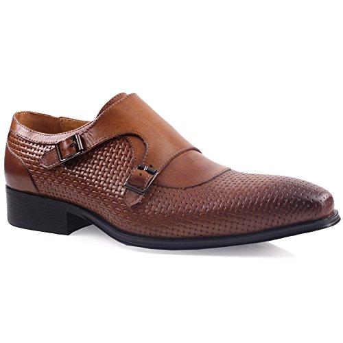 Unze Zapatos de cuero formales Hombres Millan ' Marrón
