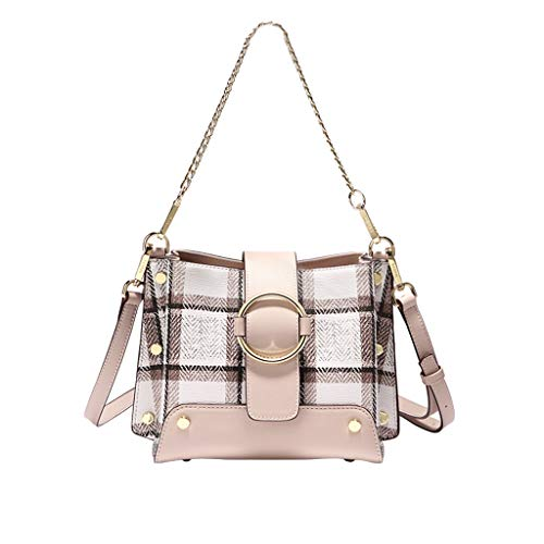 Bag Lattice Fairy Chain de mode simple main Grise Sac Atmosphere Wild New Fashion British Grille Sac à 7qXIUwR