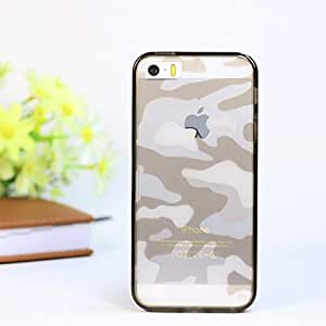 iPhone 5S Case, WKell Camouflage Pattern Translucent TPU Material Protective Shell for iPhone 5/5S (Assorted Colors),Yellow