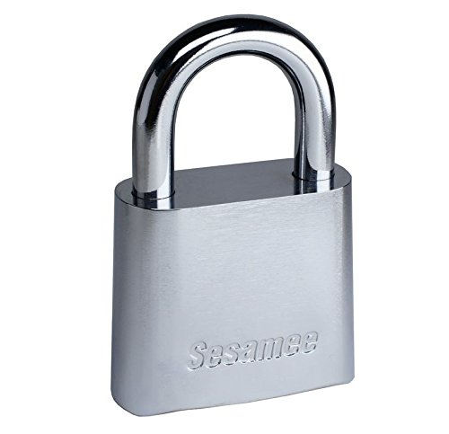 Sesamee KCR0436 4-Dial Chrome Plated Marine Combination Padlock - 5 Pack