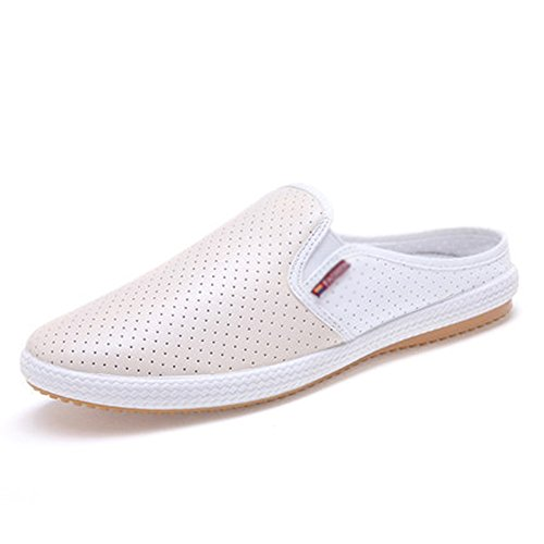 Sandals MAZHONG Fashion Wild Summer Men's Casual Breathable Hollow (Color : White, Size : EU42/UK8.5/CN43) Khaki
