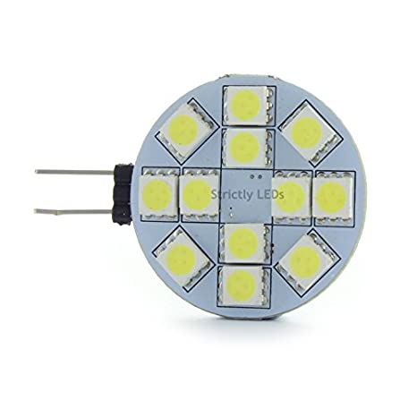Bombillas LED G4, focos de 12 V, 2 W, color blanco frío,