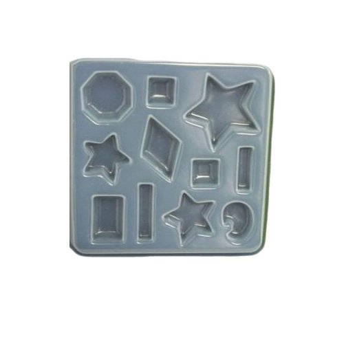Stars and abstract shape mold 409