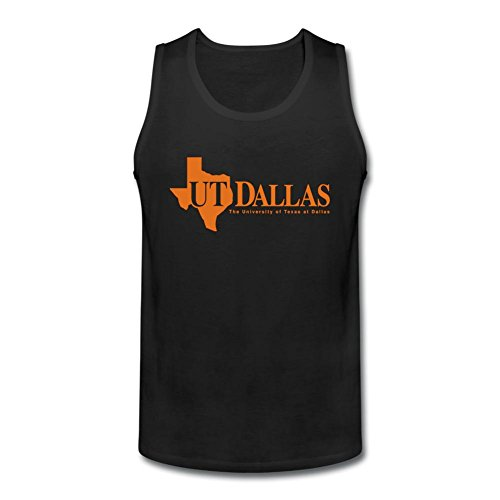 RNUER University of Texas at Dallas Men's Vest Tank Top 100% Cotton