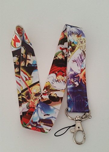 (Inuyasha Sesshoumaru Anime Color Fabric Lanyard)