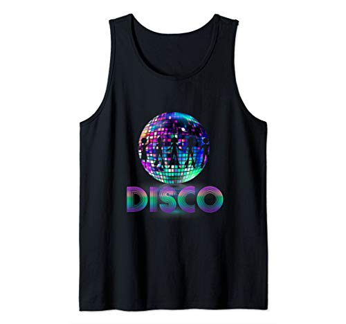 Disco ball Queen dancer 70's 80's Costume Party for Women Tank Top -