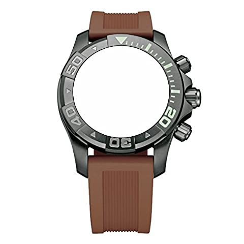 Victorinox Swiss Army Dive Master 500 Brown Genuine Rubber Strap Diver Watch Band 20mm (Mens Swiss Army Watch Diver 500)