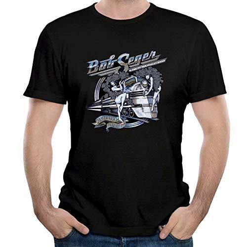 Tiwywln Bob Seger The Silver Bullet Band Men's Tee Fashion T-Shirt ()