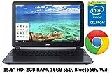 Acer Gray 15.6-inch Premium Chromebook PC (2016), Intel Celeron N2830 Dual-Core Processor, 2GB