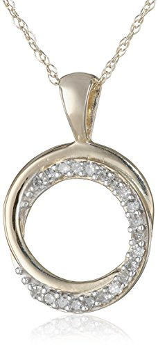 Diamond Accent Circle Pendant - 8