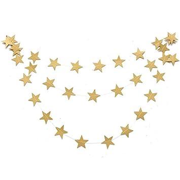 wa stern muster girlande hnger sternkette weihnachten verzierung deko 4mgolden - Stern Muster