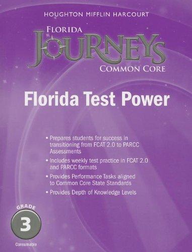 Houghton Mifflin Harcourt Journeys: Florida Test Power Student Edition Grade 3 ebook