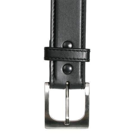 BlackHawk 4113 CQC Pistol Belt, Black, 38in Waist, Carbon Fiber Finish, Brushed Nickel 411338CBK
