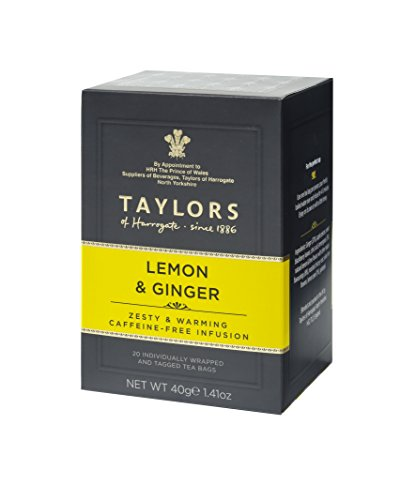 (Taylors of Harrogate Lemon & Ginger Herbal Tea, 20 Teabags)