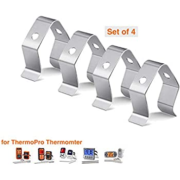 Probe Holder Clip for Thermopro Grill Thermometer Temperature Probe Clip Holder and Smoker Ambient Probe holder and other universal TP20 TP-08S TP07 TP09B TP10 TP11 TP12 TP16 TP17 TP22