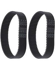 Tandriem van rubber, HTD 225-3M-17, 75 tanden, gesloten lus, compatibel met Bosch PBS75A-GBS75AE Silvercrest Parkside Pebs 900, 2 stuks