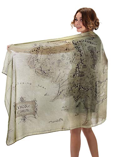 elope Lord of The Rings Middle Earth Lightweight Scarf Moss Green]()