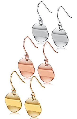 Jstyle Pairs Stainless Dangle Earrings