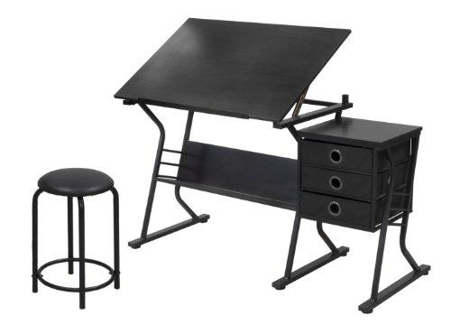 Studio Designs Eclipse Craft Center in Black/Black 13365 by Studio Designs