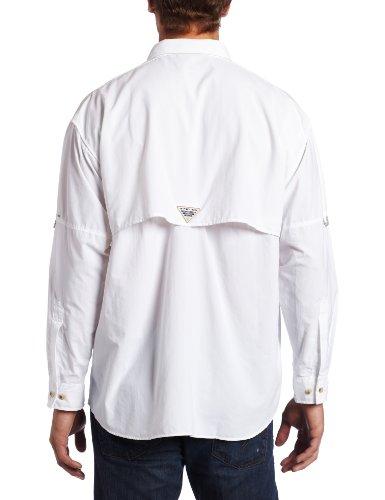 Columbia Sportswear hombres de Bahama II de manga larga Blanco