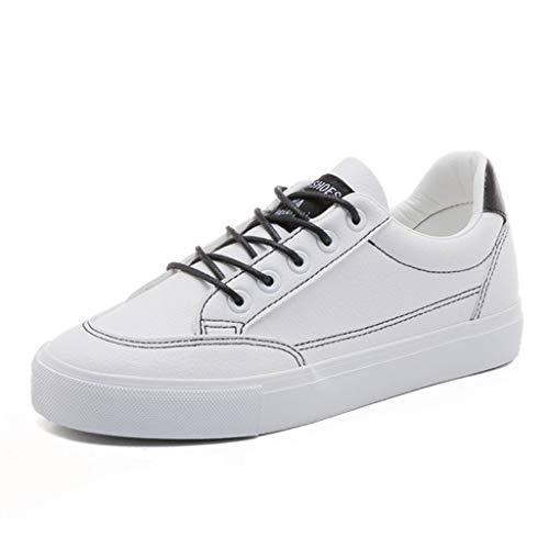 Moda los de Blancas del de la para Las Arriba Casuales Transpirables Blanco Zapatos Atan SHI Zapatillas Deporte monopatín Planos Zapatos qEw0xfP