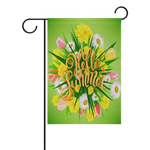 Raininc's Hello Green Summer Personalized Garden Flags Decor
