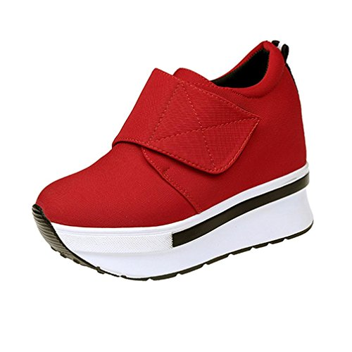 Elevin (tm) 2018women Moda Inverno Zeppe Scarpe Con Plateau Antiscivolo Sneaker Rosso 1
