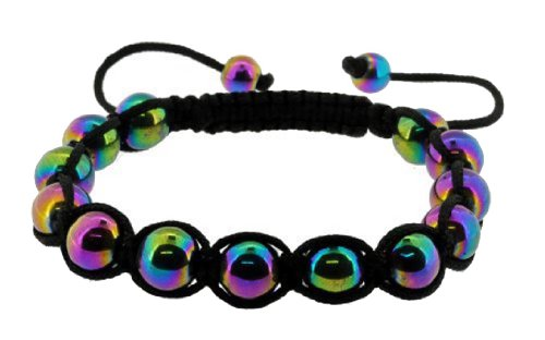 Rainbow Magnetic Ball Handmade Drawstring Knot Bracelet