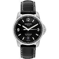 Certina DS Podium Genuine Black Leather Mens Automatic Watch
