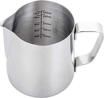 Espresso Steaming Pitcher,Espresso Milk Frothing Pitcher,Coffee Milk Frothing Cup,Coffee Steaming Pitcher