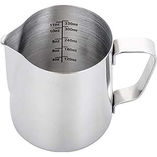 Espresso Steaming Pitcher 12 oz,Espresso Milk Frothing Pitcher 12 oz,Coffee Milk Frothing Cup,Coffee Steaming Pitcher 12 oz/350 ml